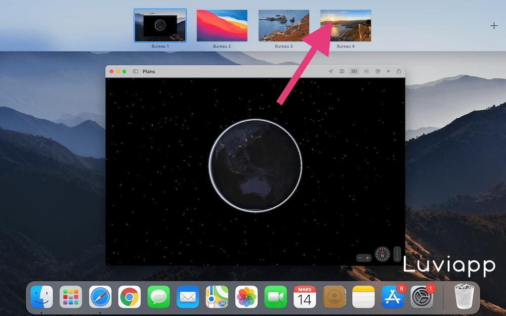 Comment déplacer des bureaux sur Mac