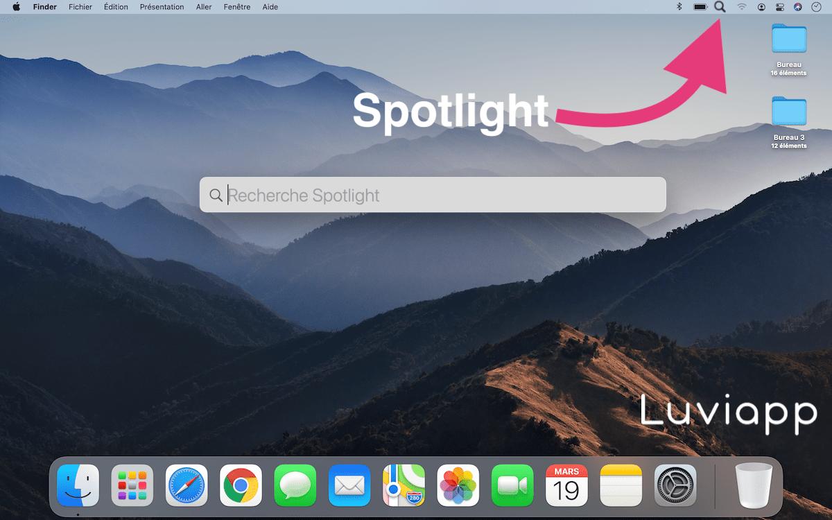 Comment ouvrir Spotlight Mac