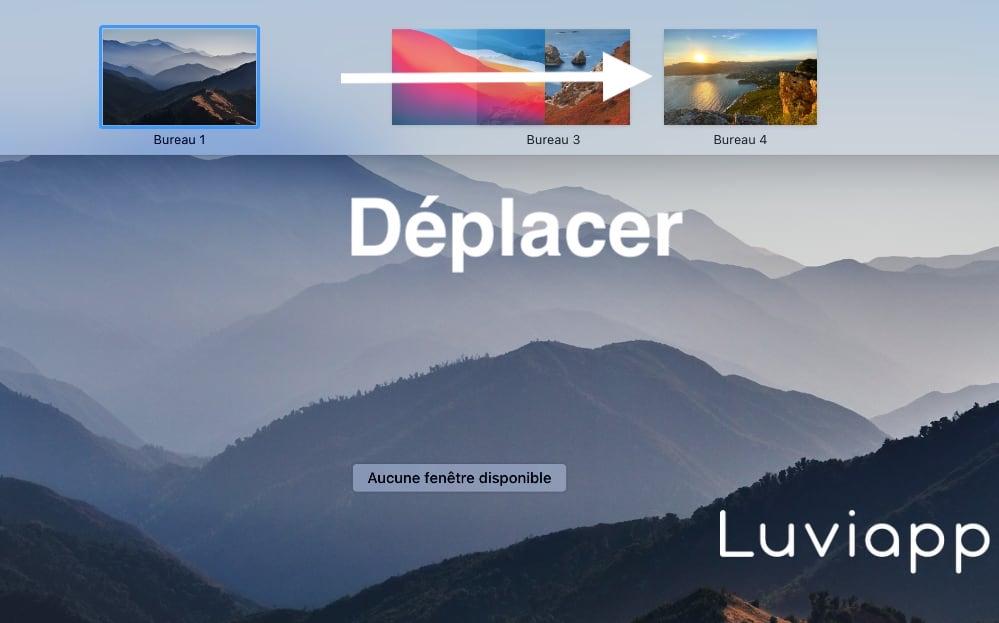 Déplacer bureau Mac
