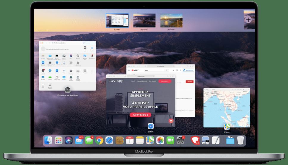 comment utiliser mission control sur Mac - Plusieurs bureaux sur Mac
