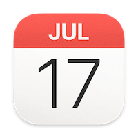 icon calendrier macOS